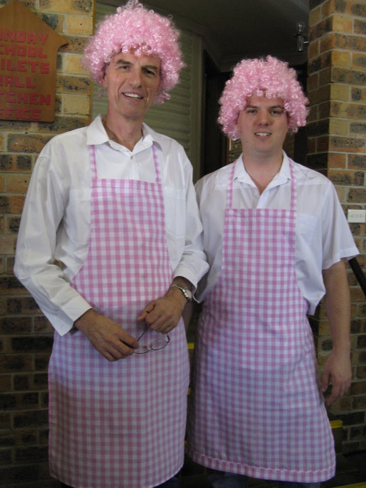 Men in pink for breast cancer fund raiser